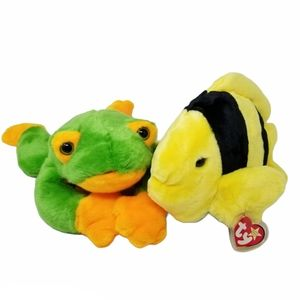 Beanie Baby Babies Bubbles Black Yellow Fish Frog